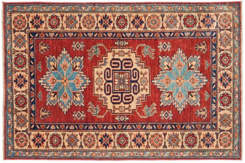 3×4 Kazak Red Oriental Rug 044902