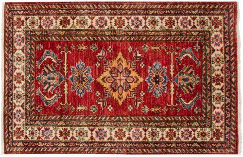 3×4 Kazak Red Oriental Rug 048847