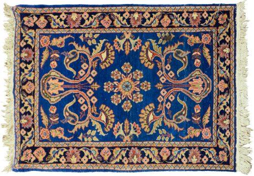 3×4 Persian Lilihan Blue Oriental Rug 011312