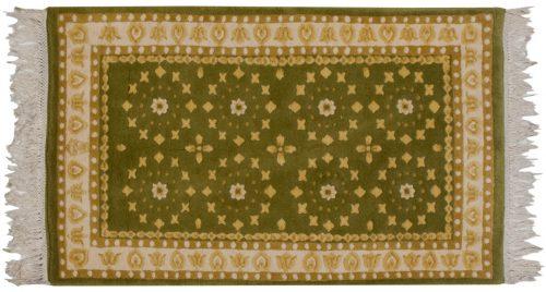 3×5 Art Deco Green Oriental Rug 014427