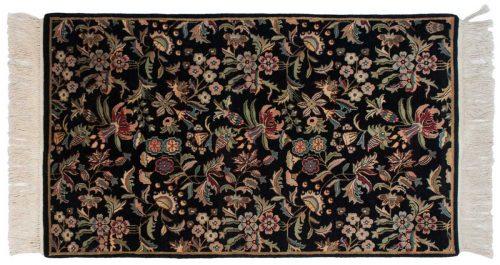 3×5 Aubusson Black Oriental Rug 031974