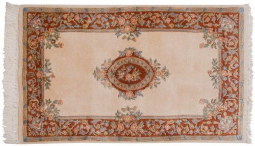 3×5 Aubusson Ivory Oriental Rug 014740