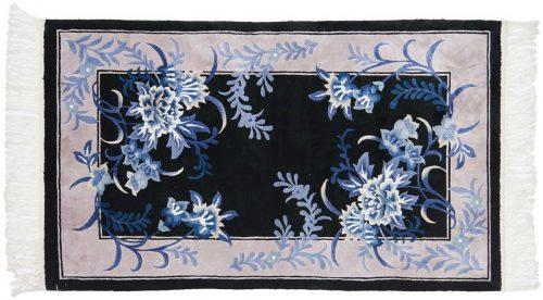 3×5 Aubusson Black Oriental Rug 029175