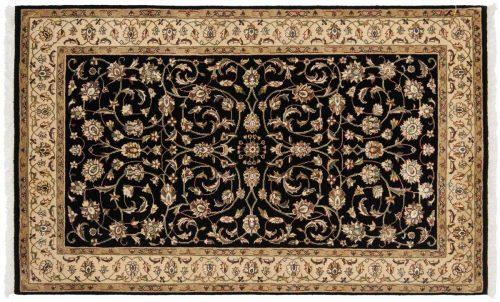 3×5 Kashan Black Oriental Rug 043730