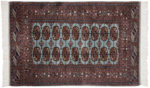 3×5 Bokhara Blue Oriental Rug 021553