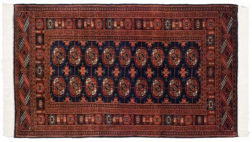 3×5 Bokhara Blue Oriental Rug 021994
