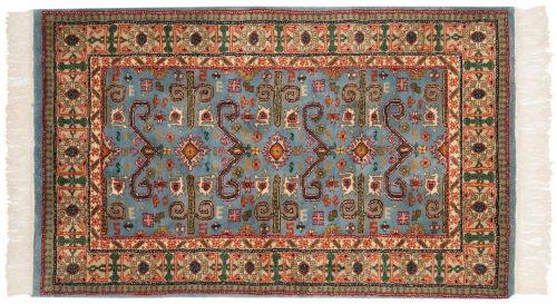 3×5 Caucasian Blue Oriental Rug 014747
