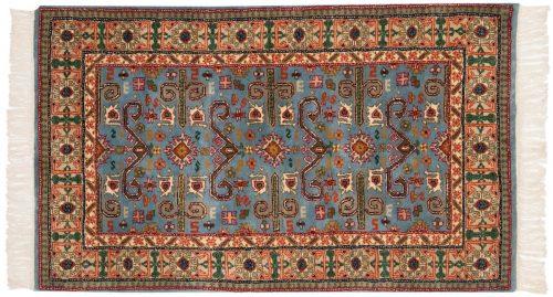 3×5 Caucasian Blue Oriental Rug 014748