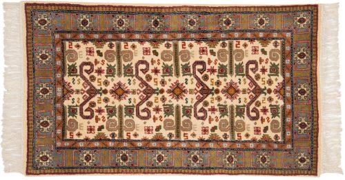3×5 Caucasian Ivory Oriental Rug 014755