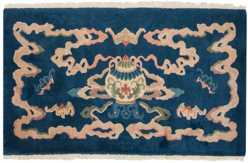 3×5 Chinese Blue Oriental Rug 013580