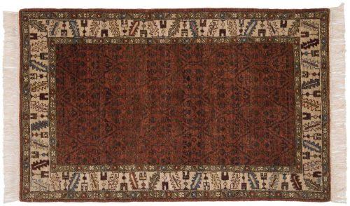 3×5 Hamadan Brown Oriental Rug 020795