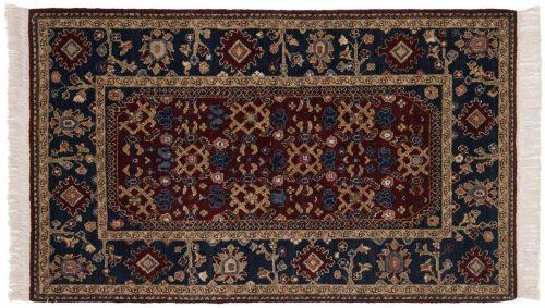 3×5 Hamadan Burgundy Oriental Square Rug 020692