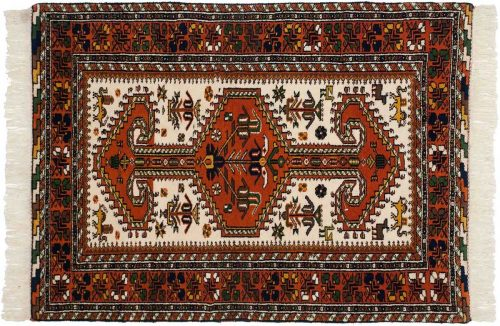 3×5 Caucasian Ivory Oriental Rug 023315