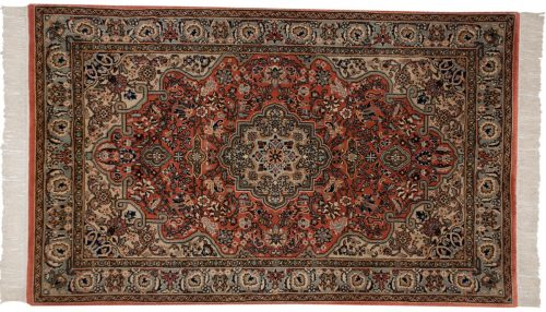 3×5 Kashan Gold Oriental Rug 012422