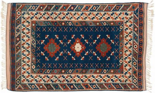 3×5 Kazak Blue Oriental Rug 013717