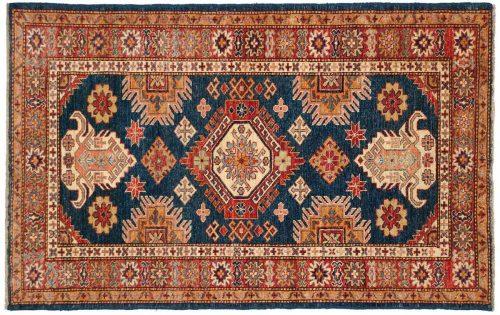 3×5 Kazak Blue Oriental Rug 043637