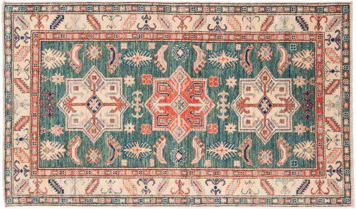 3×5 Kazak Green Oriental Rug 044959