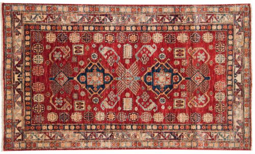 3×5 Kazak Red Oriental Rug 048790