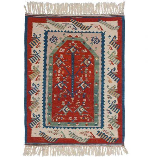 3×5 Kilim Red Oriental Rug 034562