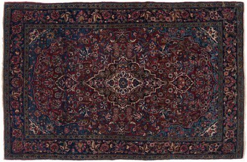 3×5 Meshed Burgundy Oriental Rug 013644