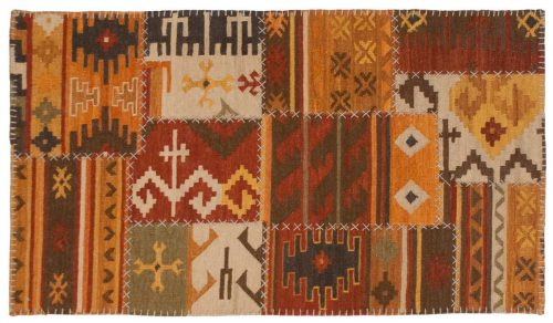 3×5 Patchwork Multi Color Oriental Rug 045191