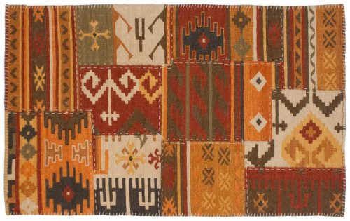 3×5 Patchwork Multi Color Oriental Rug 045196
