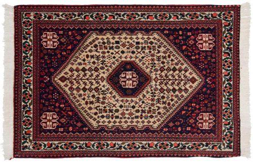 3×5 Persian Abadeh Beige Oriental Rug 013684