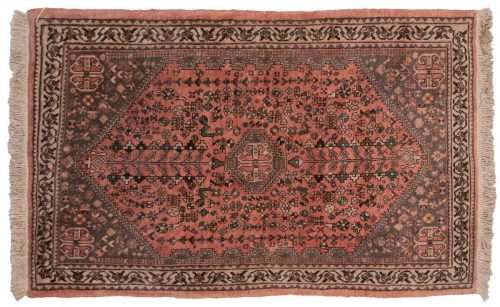 3×5 Persian Abadeh Red Oriental Rug 027308