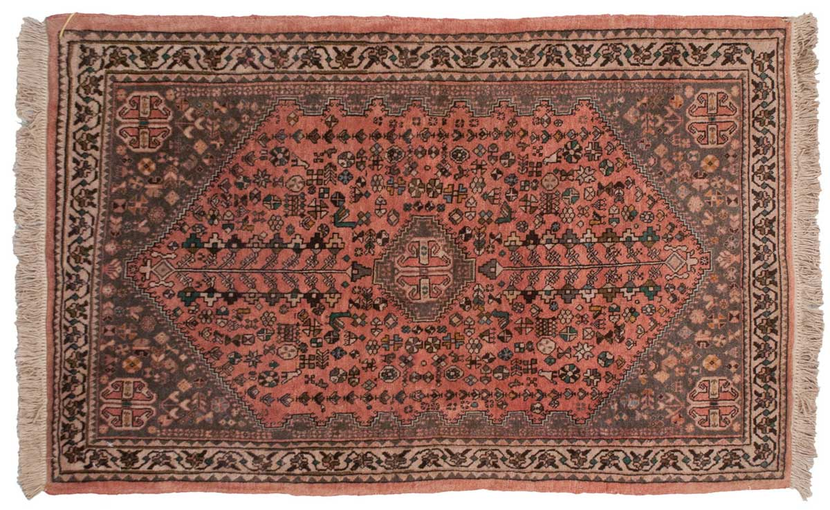 3x5 Persian Abadeh Red Oriental Rug 027308