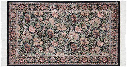 3×5 Floral Black Oriental Rug 025864