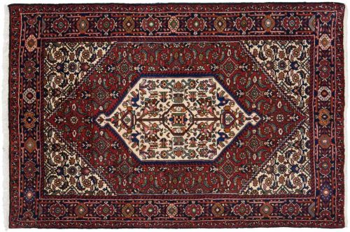 3×5 Persian Goultug Red Oriental Rug 014235