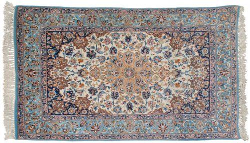 3×5 Persian Isfahan Ivory Oriental Rug 013731