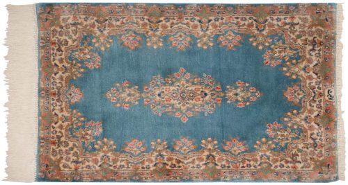 3×5 Persian Kerman Blue Oriental Rug 012159