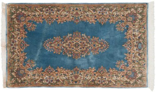 3×5 Persian Kerman Blue Oriental Rug 012267