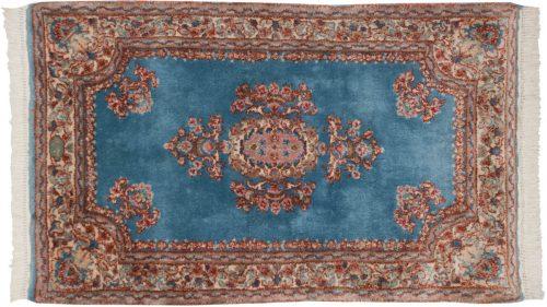 3×5 Persian Kerman Blue Oriental Rug 012270
