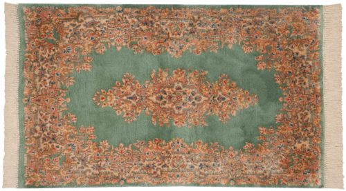 3×5 Persian Kerman Green Oriental Rug 012158