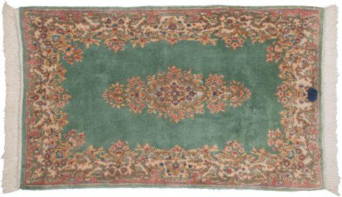 3×5 Persian Kerman Green Oriental Rug 012349
