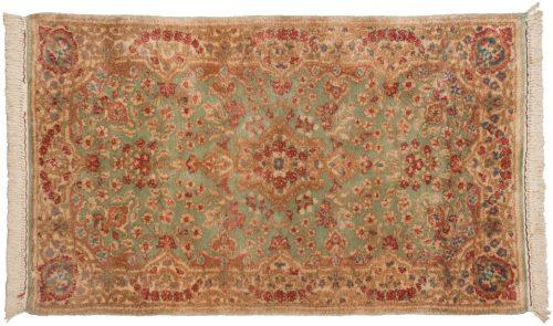 3×5 Persian Kerman Green Oriental Rug 013649