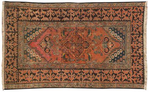 3×5 Persian Persian Rose Oriental Rug 014029