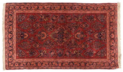3×5 Persian Sarouk Red Oriental Rug 034718