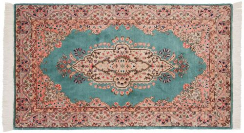 3×5 Persian Tabriz Green Oriental Rug 020233