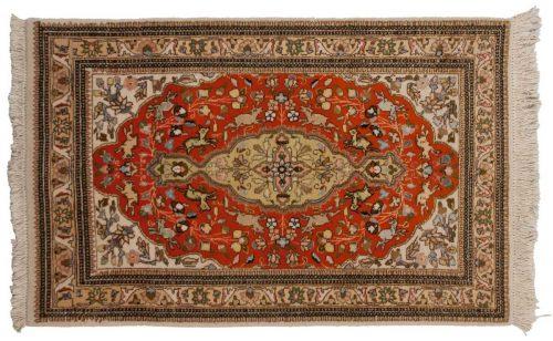 3×5 Persian Tabriz Rust Oriental Rug 035543