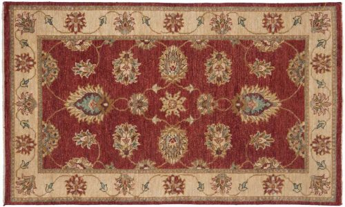 3×5 Caicasian Red Oriental Rug 042516