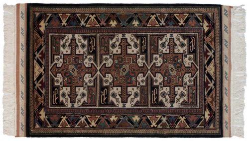 3×5 Saddlebag Black Oriental Rug 036909