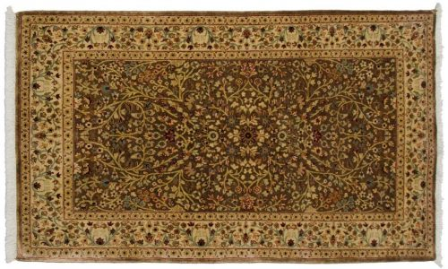 3×5 Tabriz Brown Oriental Rug 043580