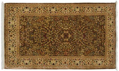 3×5 Tabriz Brown Oriental Rug 043580