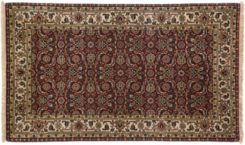 3×5 Tabriz Burgundy Oriental Rug 042538