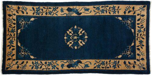 3×6 Chinese Blue Oriental Rug 013579