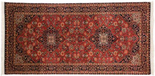 3×6 Kashan Red Oriental Rug Runner 042628