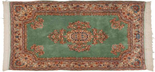 3×6 Persian Kerman Green Oriental Rug 012364
